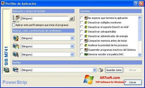 સ્ક્રીનશૉટ PowerStrip Windows 7