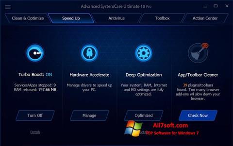 સ્ક્રીનશૉટ Advanced SystemCare Ultimate Windows 7