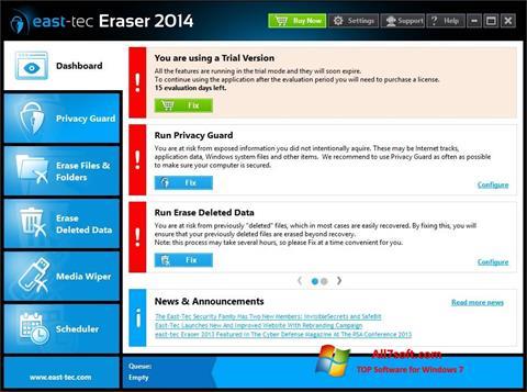 સ્ક્રીનશૉટ East Tec Eraser Windows 7