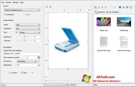 સ્ક્રીનશૉટ WinScan2PDF Windows 7