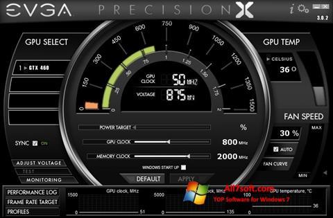 સ્ક્રીનશૉટ EVGA Precision X Windows 7