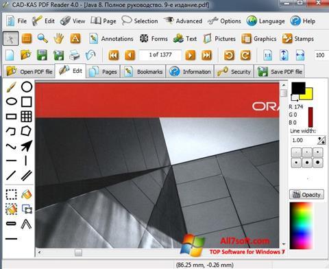 સ્ક્રીનશૉટ PDF Reader Windows 7