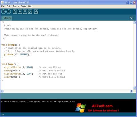 સ્ક્રીનશૉટ Arduino Windows 7
