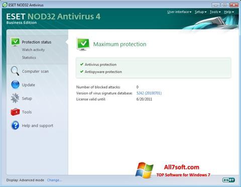 સ્ક્રીનશૉટ ESET NOD32 Windows 7