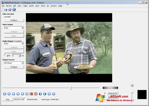 સ્ક્રીનશૉટ Avidemux Windows 7
