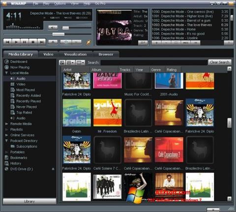 સ્ક્રીનશૉટ Winamp Windows 7