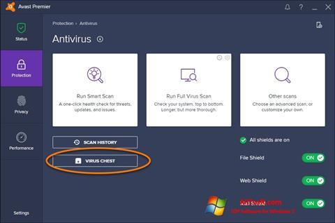સ્ક્રીનશૉટ Avast Windows 7