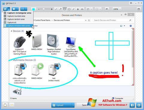 સ્ક્રીનશૉટ QIP Windows 7