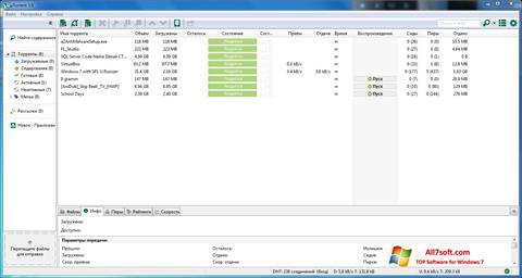 સ્ક્રીનશૉટ uTorrent Windows 7