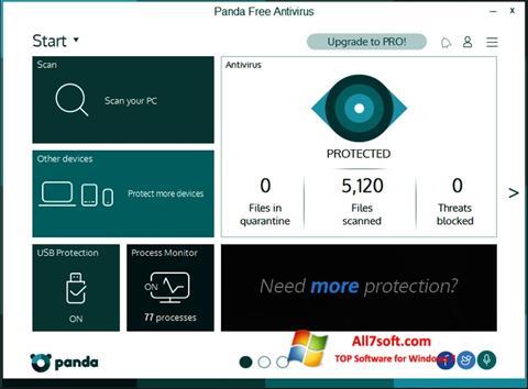 સ્ક્રીનશૉટ Panda Windows 7
