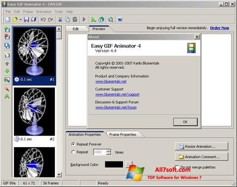 સ્ક્રીનશૉટ Easy GIF Animator Windows 7