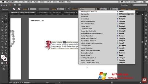 સ્ક્રીનશૉટ Adobe Illustrator Windows 7