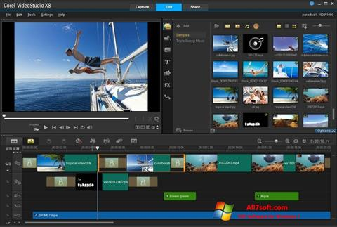 સ્ક્રીનશૉટ Corel VideoStudio Windows 7