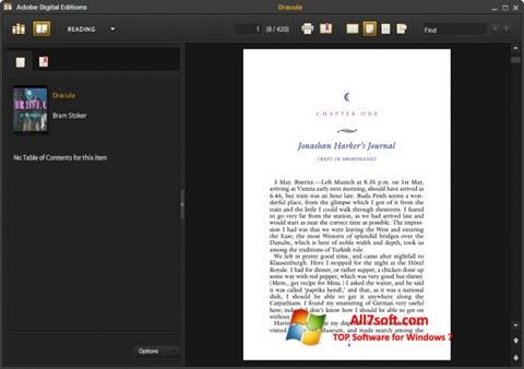 સ્ક્રીનશૉટ Adobe Digital Editions Windows 7