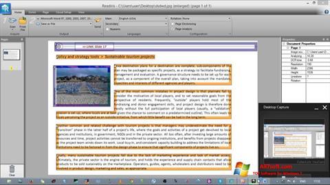 સ્ક્રીનશૉટ Readiris Pro Windows 7