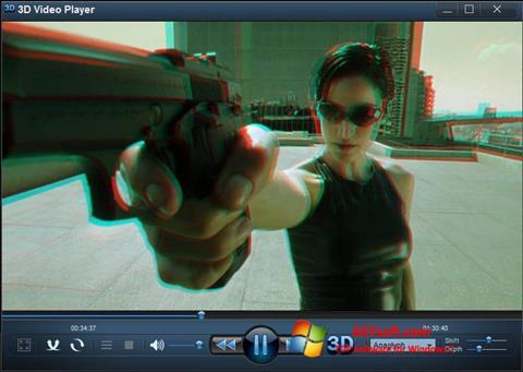 સ્ક્રીનશૉટ 3D Video Player Windows 7