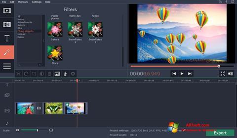 સ્ક્રીનશૉટ Movavi Video Suite Windows 7