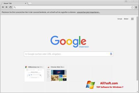 સ્ક્રીનશૉટ Google Chrome Windows 7