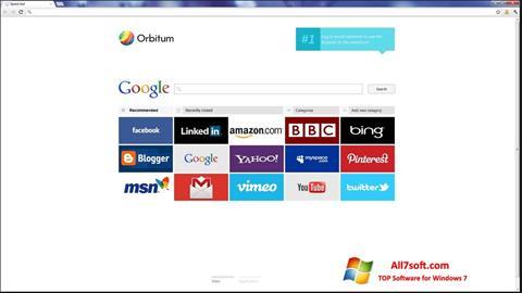 સ્ક્રીનશૉટ Orbitum Windows 7
