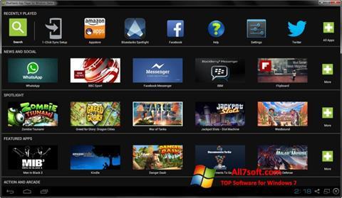 સ્ક્રીનશૉટ BlueStacks Windows 7