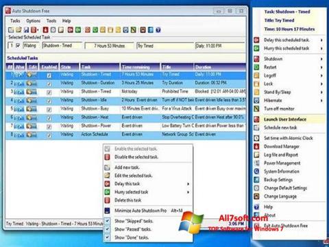 સ્ક્રીનશૉટ Auto ShutDown Windows 7