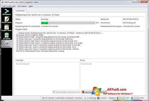 સ્ક્રીનશૉટ MKVToolnix Windows 7