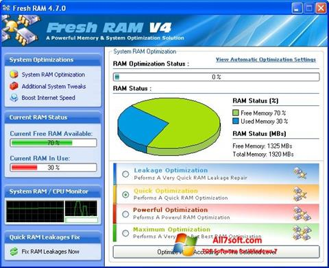 સ્ક્રીનશૉટ Fresh RAM Windows 7