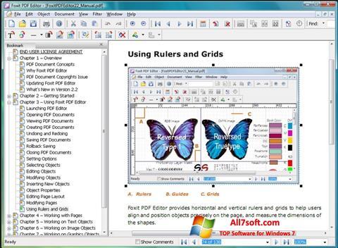 સ્ક્રીનશૉટ Foxit PDF Editor Windows 7