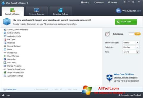 સ્ક્રીનશૉટ Wise Registry Cleaner Windows 7