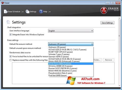 સ્ક્રીનશૉટ Fast Folder Eraser Windows 7
