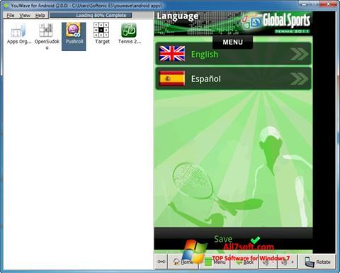 સ્ક્રીનશૉટ YouWave Windows 7