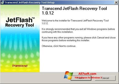 સ્ક્રીનશૉટ JetFlash Recovery Tool Windows 7