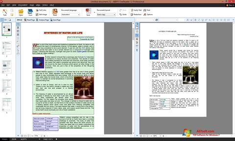 સ્ક્રીનશૉટ ABBYY FineReader Windows 7