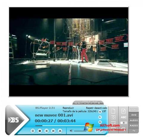 સ્ક્રીનશૉટ BSPlayer Windows 7
