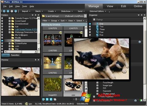 સ્ક્રીનશૉટ ACDSee Photo Manager Windows 7