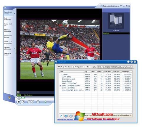 સ્ક્રીનશૉટ SopCast Windows 7