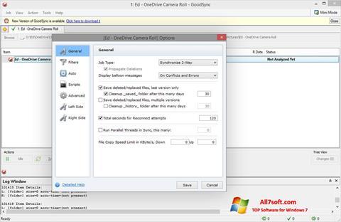 સ્ક્રીનશૉટ GoodSync Windows 7