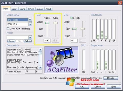સ્ક્રીનશૉટ AC3Filter Windows 7