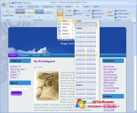 સ્ક્રીનશૉટ Artisteer Windows 7