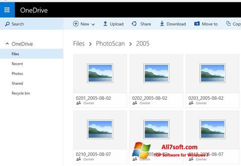 સ્ક્રીનશૉટ OneDrive Windows 7