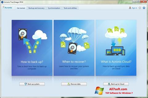 સ્ક્રીનશૉટ Acronis True Image Windows 7