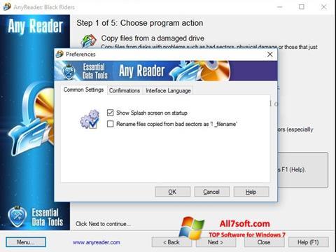 સ્ક્રીનશૉટ AnyReader Windows 7