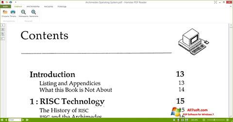 સ્ક્રીનશૉટ Hamster PDF Reader Windows 7