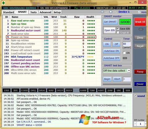 સ્ક્રીનશૉટ Victoria Windows 7