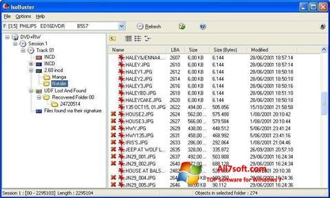 સ્ક્રીનશૉટ IsoBuster Windows 7