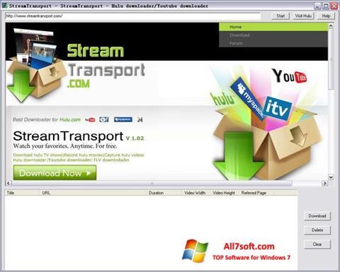 સ્ક્રીનશૉટ StreamTransport Windows 7