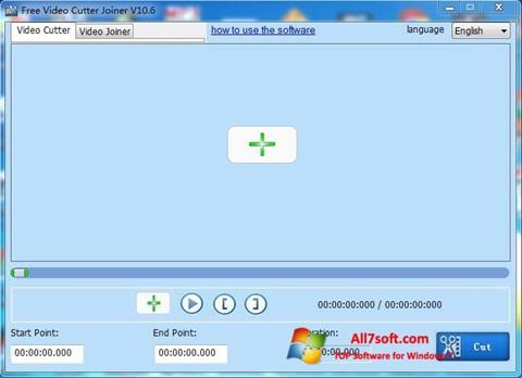 સ્ક્રીનશૉટ Free Video Cutter Windows 7