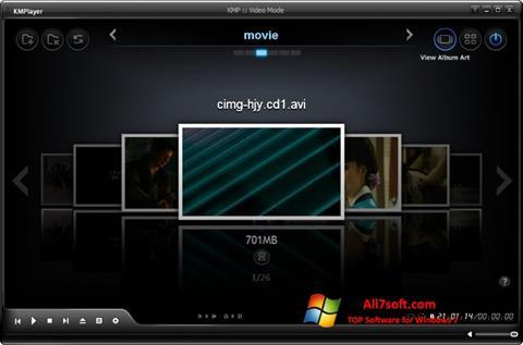 સ્ક્રીનશૉટ KMPlayer Windows 7