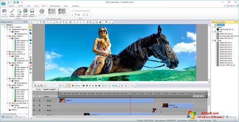 સ્ક્રીનશૉટ VSDC Free Video Editor Windows 7