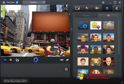 સ્ક્રીનશૉટ CyberLink YouCam Windows 7